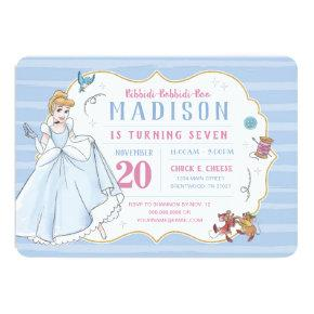 Princess Cinderella | Watercolor Birthday Invitation