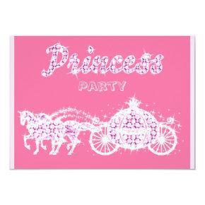 Princess Horses & Carriage Birthday Party Invitation