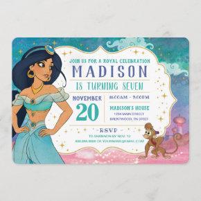 Princess Jasmine and Abu Enchanted Birthday Invitation