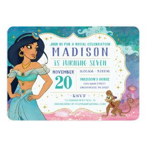 Princess Jasmine and Abu Enchanted Birthday Invitation