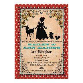 Princess Party Invitations (for Twins or 2 Kids)