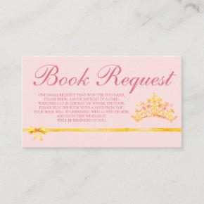 Princess Pink Book Request  for Baby Shower