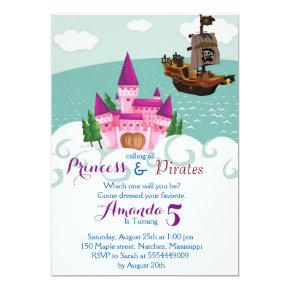 Princess Pirate Invitations