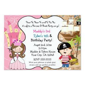 Princess & Pirate Party  Brown Hair