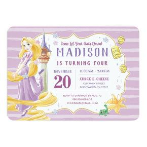 Princess Rapunzel | Watercolor Birthday Invitation