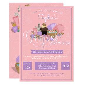 Princess Salon & Spa Birthday Party Invitation