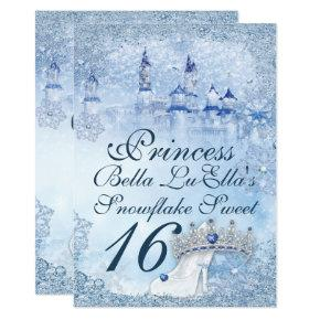 Princess Snowflake Sweet 16 Mis Quince Invitation