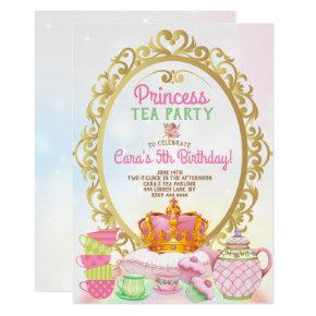 Princess Tea Party Birthday Party Invitation