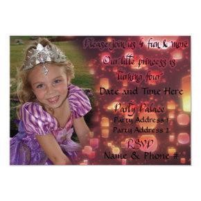 Princess Turning 4 Invitations for Birthday