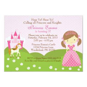 Princess with Horse birthday Invitations