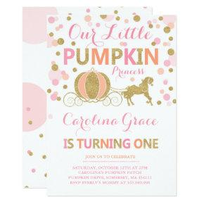 Pumpkin Birthday Invitations Pumpkin Princess Party