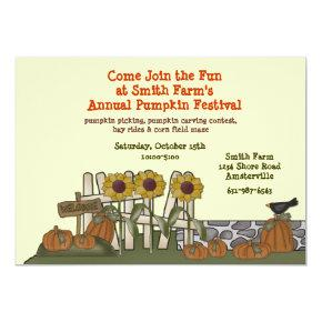 Pumpkin Garden Invitation
