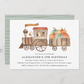 Pumpkin Patch   Kid's Birthday Party Invitation
