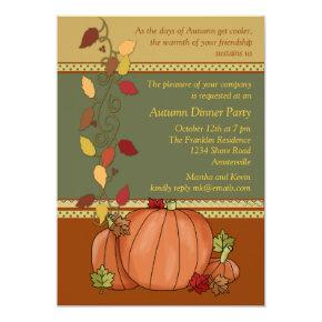 Pumpkins Three Invitations