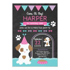 Puppy Birthday Invitations