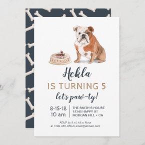 Puppy dog birthday invitation, let's paw-ty! invitation