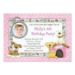 Puppy Dog Birthday Party Invitation