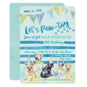 Puppy Dog Birthday Party Invitations