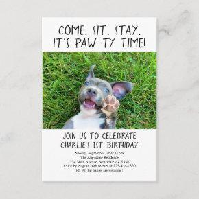 Puppy Dog Birthday Party Photo Invitation