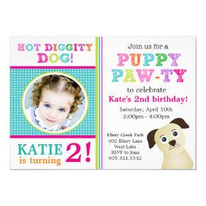 Puppy Paw-ty Birthday Party Invitation