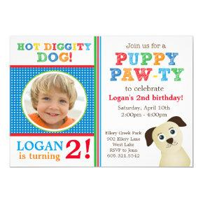 Puppy Paw-ty Birthday Party Invitation (Primary)