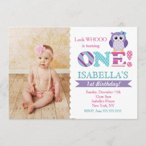 Purple Owl Birthday Party  for Girl