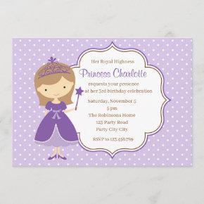 Purple Princess Birthday  (Pastel)