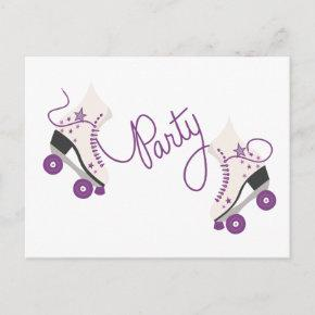 Purple Roller Skates Birthday Party Post
