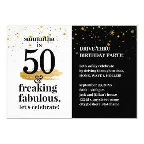 Quarantine Drive Thru 50 and Fabulous Birthday Invitation