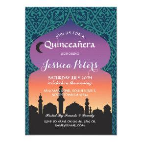 Arabian Nights Quinceanera Birthday Invitations Candied Clouds