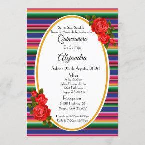 Quinceanera Invitacion/Invitacion Invitation