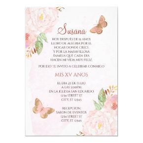 QUINCEANERA-MARIPOSAS INVITATION