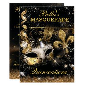 Quinceanera Masquerade Birthday Party Invitations
