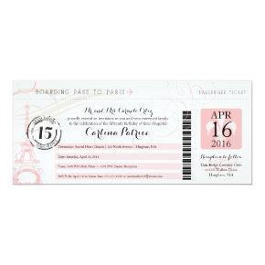 Quinceanera | Paris Boarding Pass Card