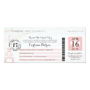 Quinceanera | Paris Boarding Pass Invitation