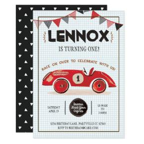Race Car Birthday Invitations