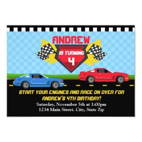 Race Car Birthday Invitation Invitations Invitations