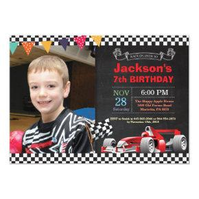 Race Car Birthday Invitation. Boy Birthday Party Invitation