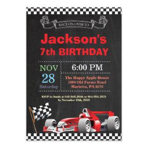 Race Car Birthday Invitations. Boy Birthday Party Invitations