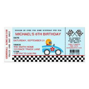 Race Car birthday Invitations customizable