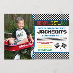 Race Car Birthday Invitation   Racing Invitation