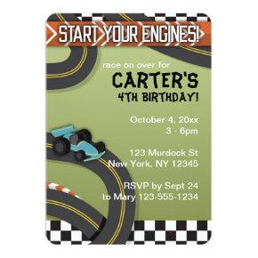 Race Car Birthday Invite