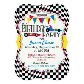 Race Car Birthday Party Invitation Invitations