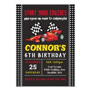 Race Car Invitation, Racing Birthday Invitation