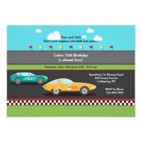 Race Cars Invitations