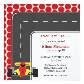 Racecar Birthday Card