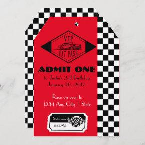 Racing Birthday Invitation