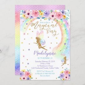 Rainbow Fairy Invitation