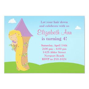 Rapunzel Birthday Party Invitations