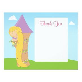 Rapunzel Birthday Thank You Card